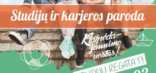 A3 plakatas studiju regata